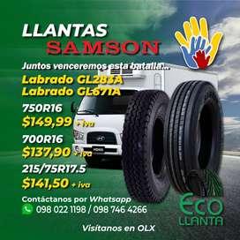 LLANTAS SAMSON Labrado GL283A / GL671A   750R16 - 700R16 - 215/75R17.5