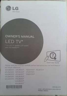 Manual smart tv Lg