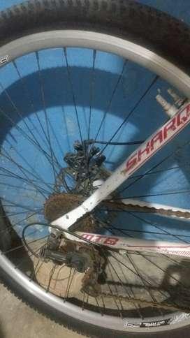 """Bicicleta todoterreno, rin 29"""" color blanco, no es de aluminio."""