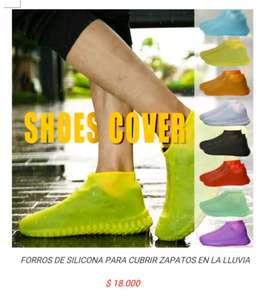 Cubre forro de zapatos tenis calzado de silicona latex para la lluvia agua impermeable