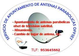 Servicio de apuntamiento de antenas de tv satelital
