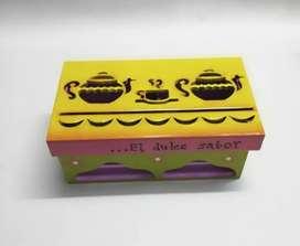 Porta té, hecho a mano