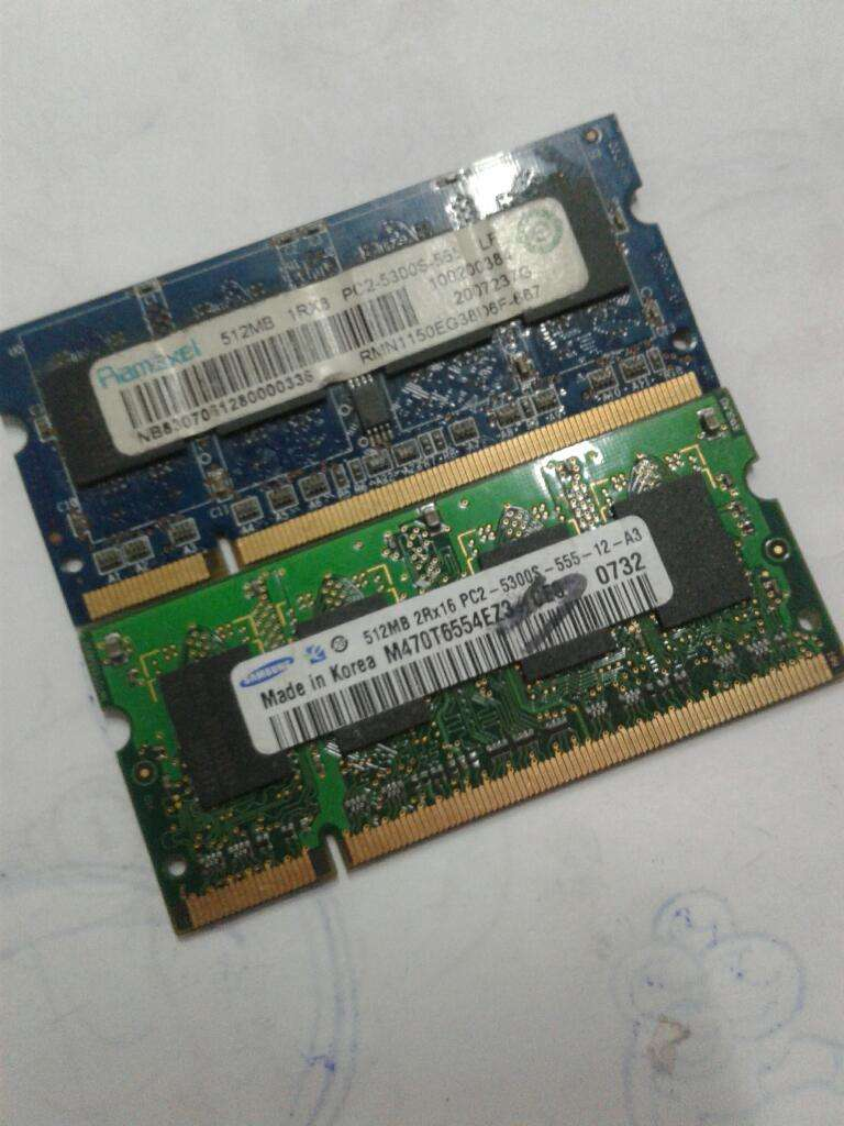 Ram de 512 Mb Ddr Pc Portatil 0