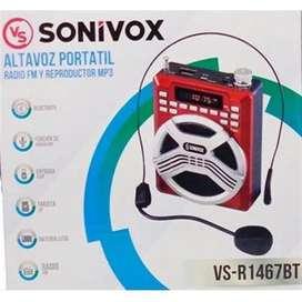 Altavoz portátil sonivox (Megáfono)