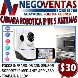 CAMARA ROBOTICA IP DE 5 ANTENAS EN DESCUENTO EXCLUSIVO DE NEGOVENTAS