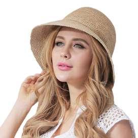 Sombrero Visera Playa Sol Viaje Elegant Gorro Mujer