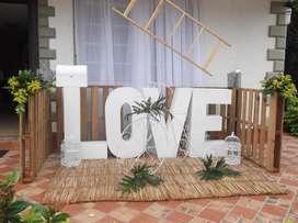ALQUILER DE LETRAS LOVE Y TRCICLO VINTAGE