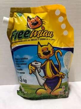 Arena para gatos marca- Free Miau neutra