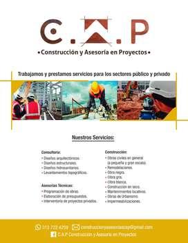 Construcción y asesorías en proyectos