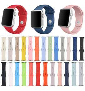 Pulso Manilla Correa Para Apple Watch Colores Silicone 38/40/42/44mm