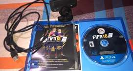 Camara de PS3 y Juego Fifa 18