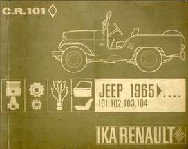 JEEP IKA 1965 MANUAL DE DESPIECE COMPLETISIMO