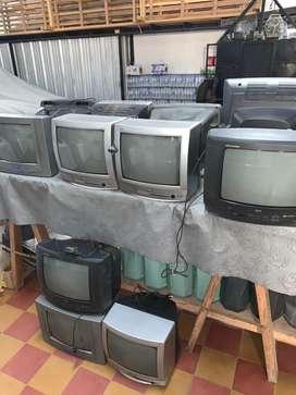 Lote de televisores 14' funcionando
