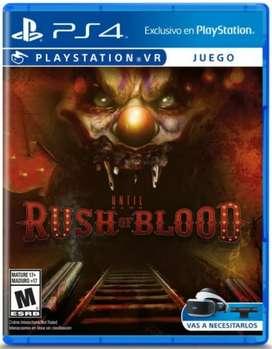 Until Dawn Rush Of Blood PlayStation VR