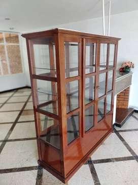 Vitrina en madera para comedor, biblioteca, almacen