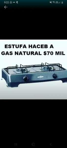 Estufa gas natural