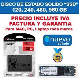 Disco Sólido Ssd Kingston 120GB 240GB 480GB 960gb Pc Laptop Mac