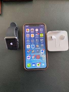 iPhone X Apple Watch