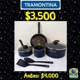 Promo Navideña... Juegos de ollas Tramontina originales con garantia