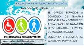 terapias, clases particulares de natacion, training personal