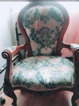 Hermosa silla Isabelina