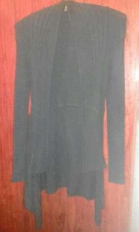 Saco Largo de Vestir Negro
