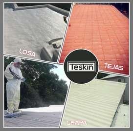 Teskin- Aislá con Poliuretano Expandido