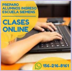 Ingreso escuela siemens. clases online