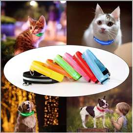 Collar Con Luces Led Para Perros, Gatos Mascotas Recargable