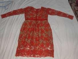 Vestido creado por amparo grijalba talla m