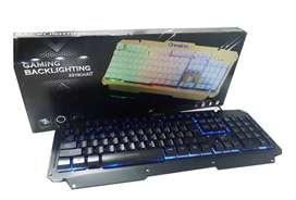 Teclado Usb Gaming Led Backlighting M500-s Panel De Aluminio