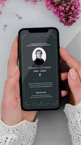 Misa de honras - invitación digital