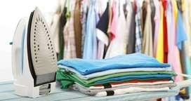Se ofrece servicios de planchado y lavado a mano