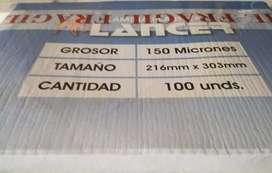 Micas A4 Laminas X Unidad Plasticos 216x303mm Plastificado