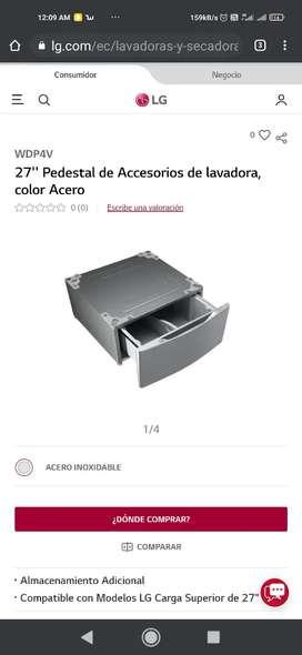 Cajón pedestal lavadoras carga frontal lg 68.5 cm ancho