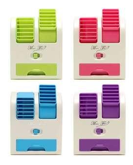 DESCRIPCIÓN DEL PRODUCTO Mini Aire Acondicionado Portátil Ventilador Dos Turbinas USB  Ideal para todos los espacio supe