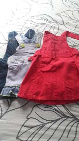 Lote de Vestidos de Beba de Los 6 Meses