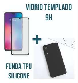 Vidrio Templado Estuche Silicone Case Para Xiaomi Mi 9 Se