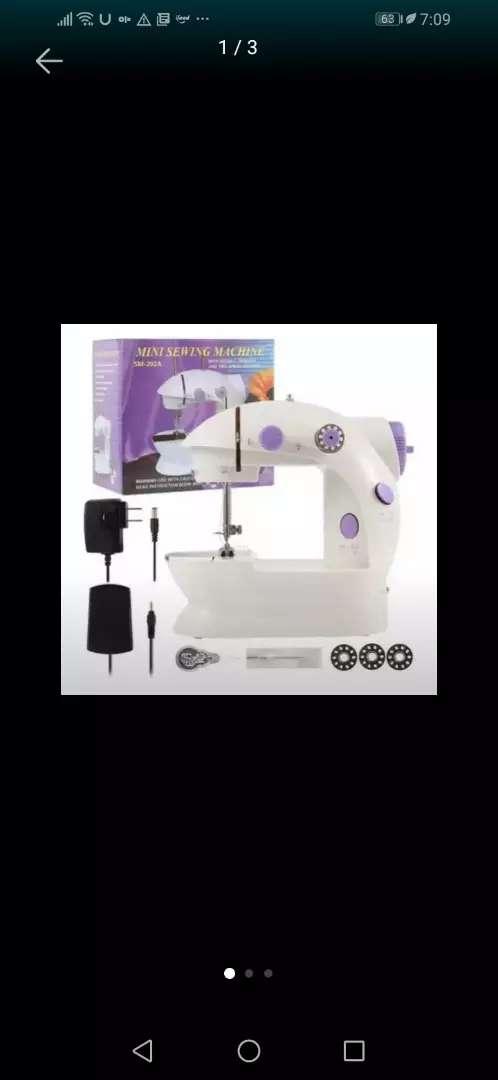 Maquina de coser mini