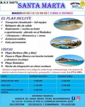 TOUR SANTA MARTA SALIDA 05 DE MARZO DEL 2020A