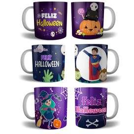 Mugs Vasos Tazas Halloween Regalos Detalles
