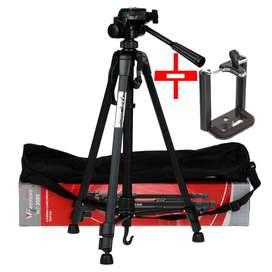Tripode WF3520 mas Base de Celular y Para Nikon Canon Sony Panasonic