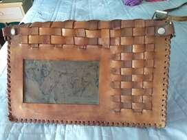 Bolso cuero artesanal