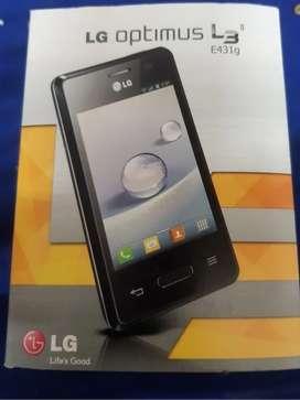 Celular Smartphone LG Optimus L3 II, usado, completo, muy buen estado