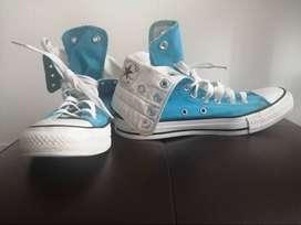 Converse de bota azules