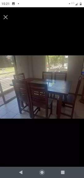 Vendo mesa + 6 sillas