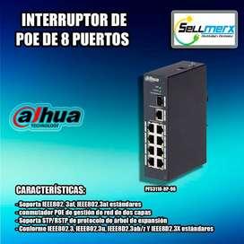 Interrruptor De Poe 8 Puertos Pfs3110-8p-96