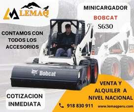 ALQUILER DE MINICARGADOR S630 CON ACCESORIOS A TODO EL PERÚ - FRESADORA - BARREDORA