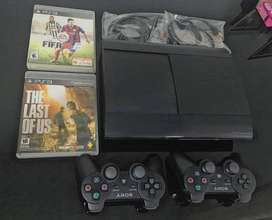 Play Station 3 + Juegos + 2 Controles + Cables originales