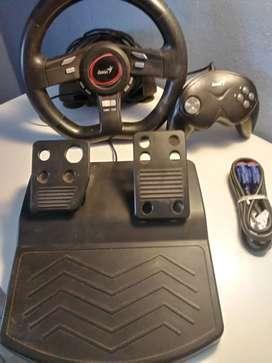 Volante +joystick Genius para pc +cable vga para monitor+moden d link dir 300
